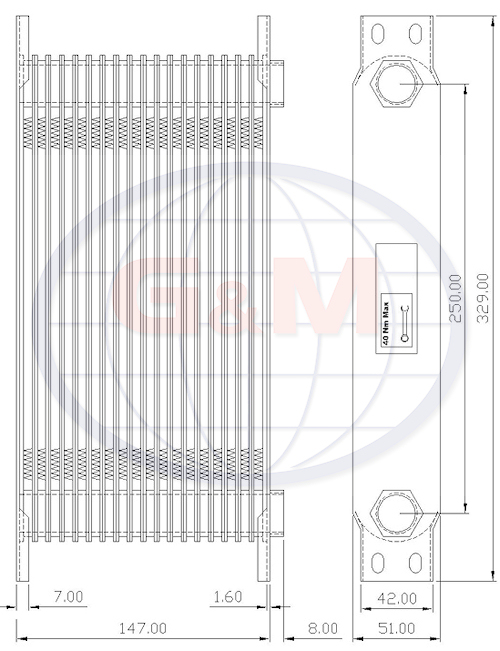 GMC519    Plate Oil Cooler